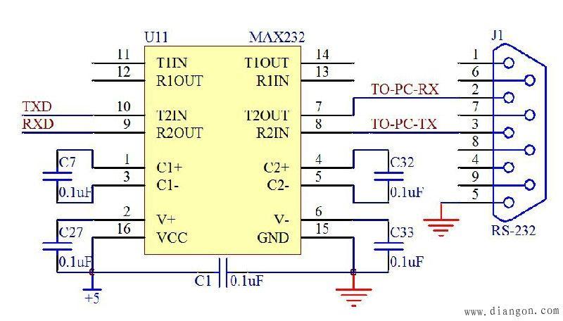 MAX232转接图