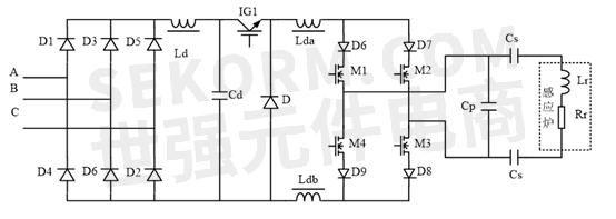 全桥逆变器通过调节开关频率可以调节cp- lr-rr并联谐振回路的状态:容