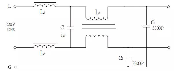图3实际村田EMI滤波器