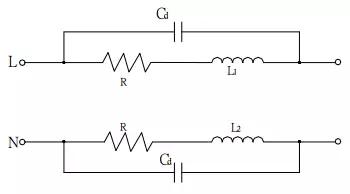 图4有分布电容Cd之等效电路图