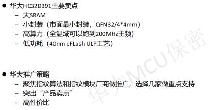 HC32D391 @指纹识别应用市场竞争策略
